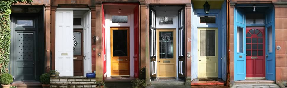Doors in the West End of Glasgow